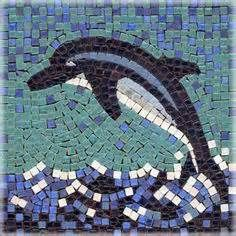 dolphin mosaic tray pintrest - - Yahoo Image Search Results