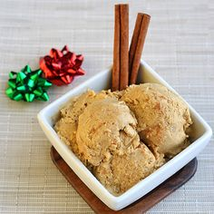 Paleo Egg Nog Ice Cream. This holiday-themed dish sounds delicious all year round. Come join in our sponsored #PinBreak today!