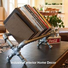 Home Decoration Ideas Entrance s the newest diy space saving storage ideas to keep your home organized, Industrial Bookshelf Diy Industrial Interior, Industrial Home Design, Industrial Bookshelf, Industrial House, Industrial Pipe, Industrial Office, Industrial Style, Space Saving Furniture, Diy Furniture