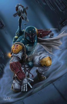 The Fett has landed. by 1314 on DeviantArt Star Wars Film, Star Wars Saga, Star Wars Fan Art, Star Wars Poster, Boba Fett Art, Boba Fett Mandalorian, Jango Fett, Star Wars Boba Fett, Chasseur De Primes