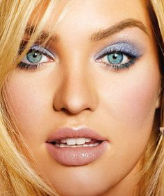 teal aqua eye nude lips, candice swanepoel