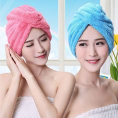 Bath & Shower Radient Microfiber Quick Drying Hair-drying Towel Bowknot Coral Velvet Bath Cap Strong Water Absorption Hair Dry Shower Bath Hat Tool Volume Large
