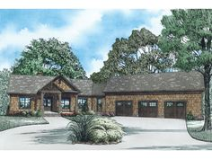 Craftsman House Plan with 3140 Square Feet and 4 Bedrooms from Dream Home Source   House Plan Code DHSW076279