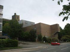 The disused Theatr Gwynedd Theatre, Deiniol Road