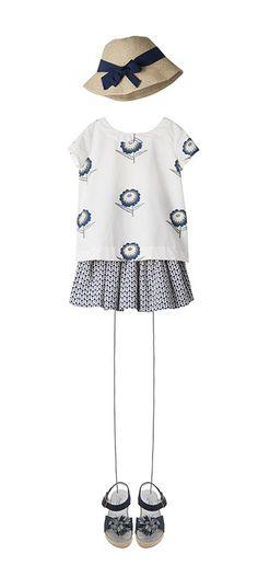 Little Girl's Summer Outfit - Look 45, Bonpoint Boutique, Paris / bonpoint.com