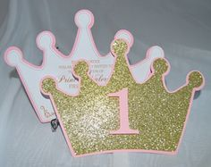 Set of 12 Princess Crown Invitations