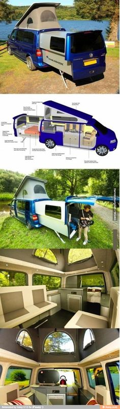 WHAT?! We definitely need one of these!!! It would be so much easier to take this camping with the boat than a camper or motor home!