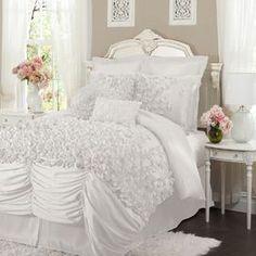 4 Piece Lucia Comforter Set in White