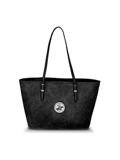The Jet Set Travel Tote has a mature yet sleek look. 4d3469bffdd0a