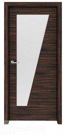 In this door design, the veneer runs horizontally throughout, creating a certain flow in your room design  #doors #ebony #home #interior