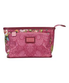 Love this Pink French Flowers Small Cosmetic Bag & Pocket Mirror on #zulily! #zulilyfinds