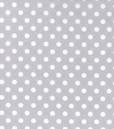 Nursery Cotton Fabric 43\u0022-White Dot On Grey,