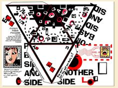 Mail Art Fluxus Poem Pyramid by davis.jacque, via Flickr