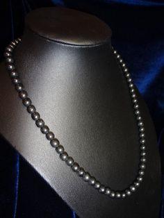 Beautiful necklace made of natural Karelian shungit
