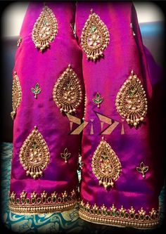 Whatsapp on 9496803123 to customise handwork sarees dresses bridal sarees blouses lehenga gowns etc Pattu Saree Blouse Designs, Simple Blouse Designs, Stylish Blouse Design, Fancy Blouse Designs, Bridal Blouse Designs, Maggam Work Designs, Designer Blouse Patterns, Piercing, Hand Embroidery
