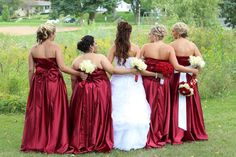 Back view of me and my bridesmaids