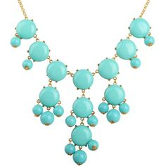 Bubble Necklace, Gold Tone Necklace, Turquoise Blue Necklace,... ($12) ❤ liked on Polyvore featuring jewelry, necklaces, accessories, statement necklaces, green turquoise necklace, turquoise jewelry, gold colored necklace and turquoise statement necklace