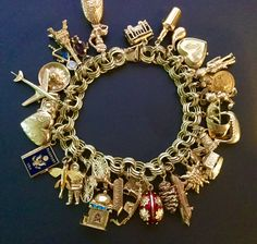 My own charm bracelet. I've been collecting charms for years. The newest is the tiny mosque to represent my trips to Turkey, Morocco, Egypt, Jordan and Oman.