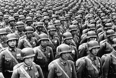 Chinese cadets in full battle dress, and wearing the standard German helmet, on parade somewhere in China, on July By the time Germany attacked Poland in Sept China was already at war with Japan for three years. Nagasaki, Hiroshima, Battle Dress, Iwo Jima, Pearl Harbor, Second World, Military History, World War Ii, Wwii