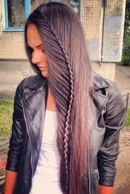 trenzas de moda con cabello suelto - Buscar con Google