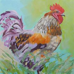 """""""Monets Rooster"""" by Fay Terry"""
