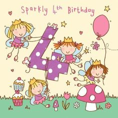 Images Of 4th Birthday Card