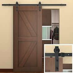 SMARTSTANDARD 6.6 FT Sliding Barn Door Hardware (Black) ­... https://smile.amazon.com/dp/B015DFW7CU/ref=cm_sw_r_pi_dp_dO5LxbGKFRAS4