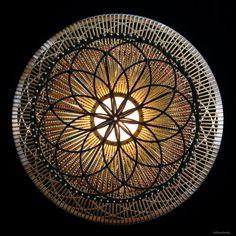 willowlamp, contemporary pendant lamp, bespoke lighting, sculptural lighting, Moroccan Vase lamp forms.