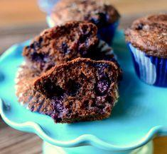 Chocolate Blueberry Muffins, interior