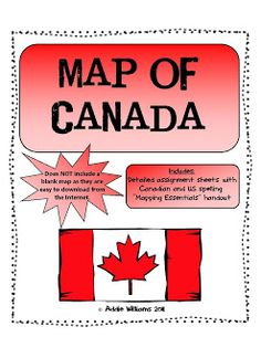 An assignment that asks students to complete a map of Canada that includes all of the provinces / territories, capital cities and major bodies of w. Teaching Social Studies, Teaching Kids, Teaching Tools, Teacher Resources, Canada For Kids, Canada Eh, Canadian Identity, World Geography, Teaching Geography