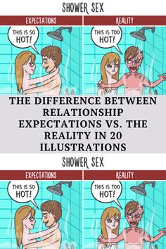 Bored Panda has made some cute drawings to illustrate the differences between what's usually expected of romantic moments and their true forms.