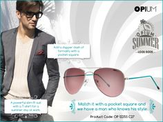 Killer suit, check. Impeccable sunglasses, check. A touch of flaming pocket-square, check-mate.  #SummerLook