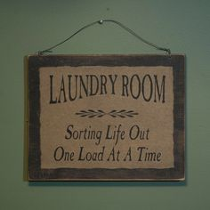 Laundry Room Sign Plaque Distressed Wood Primitive Country Decor #Country