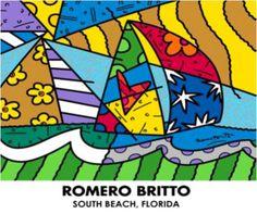 """Romero Britto """"Sailing"""""""