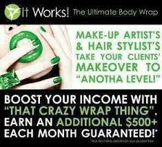 Do you do work in a salon where you do HAIR, NAILS, MAKEUP, TANNING, MASSAGES, FACIALS, or anything healthcare related? I have an AMAZING body contouring and ALL NATURAL supplement line that will boost your income immediately! GUARENTEED! Contact me to find out how you can increase your sales by the end of this month! 913-485-6195 or visit my website to see all products https://enjoythenewyou.myitworks.com/