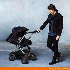 Explore the world together <3 Scandinavian-designed Stokke Scoot stroller for baby & kids