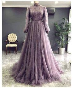 Hijab Evening Dress, A Line Evening Dress, Long Sleeve Evening Dresses, Prom Dresses Long With Sleeves, A Line Prom Dresses, Formal Dresses, Hijab Prom Dress, Muslim Prom Dress, Purple Long Sleeve Dress