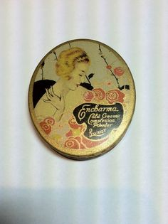 Vintage 1920's LUXOR ENCHARMA COLD CREAM Face Powder Compact Tin ~ Never Used  #EncharmabyLuxor