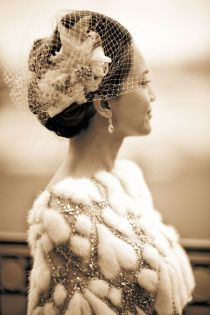Beautiful style for Mother of the Bride ~ Style Me Pretty | Gallery | Tag | birdcage-veils | Page #3