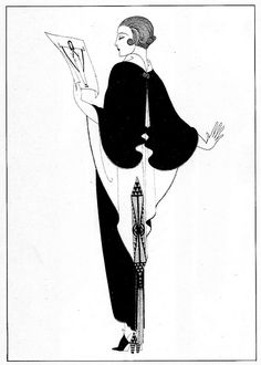 Erte (Okay, Vogue... you need to patern this up! I might try this in my sewing class)