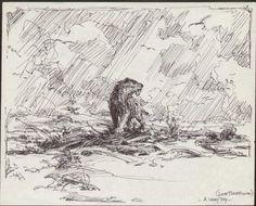 "Roy Krenkel ""Windy Day"""