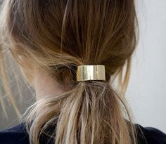 Metal Hair Cuff availale in gold or silver by JewelofaGirl on Etsy.com
