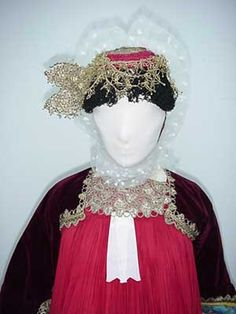 All details and photos on Skopelos' traditional costume. Greek Traditional Dress, Greek Costumes, Skiathos, Red Gowns, Greeks, Albania, Headdress, Exploring, Folk Art