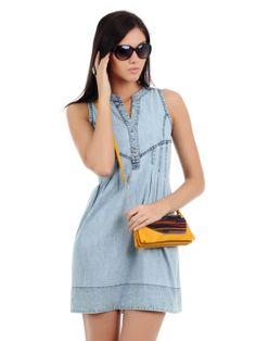 Elle Women Blue Dress