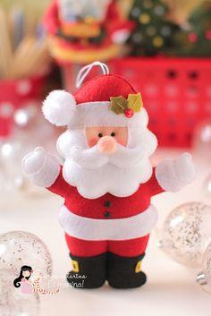 Vem que está chegando o Natal!...free felt Christmas ornament patterns!