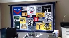 Too Many T-shirts and too many blankets or quilts? Have a T-shirt quilt made for your home or work office. Very unique.