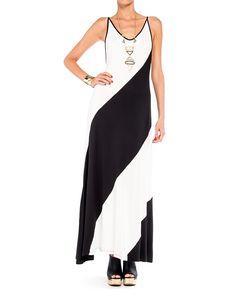 Low Back Diagonal Maxi Dress - #2020AVE #maxi #dresses #stripes #diagonal #vneck