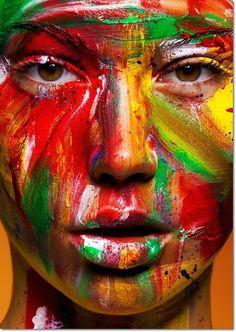 Expressive face paint