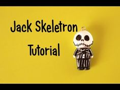 Jack Skellington Chibi polymer clay charm tutorial
