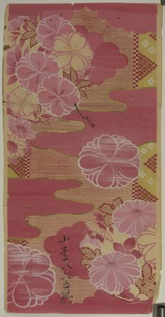 These beautiful prints are salesman's samples of kimono cloth designs…